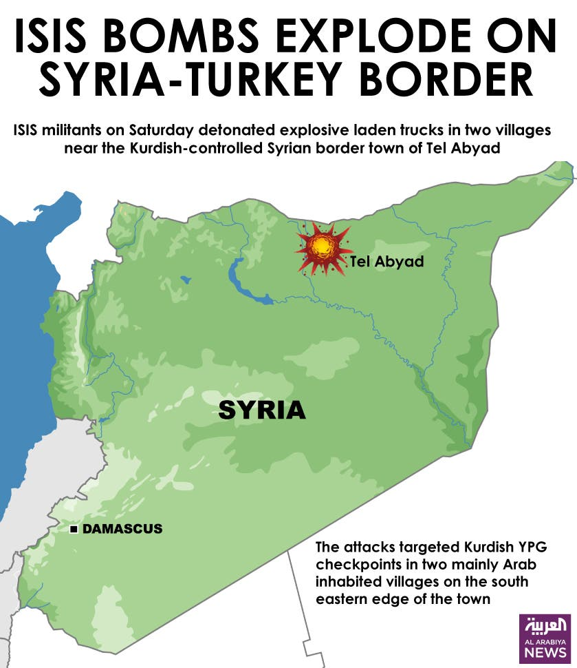 Infographic: ISIS bombs explode on Syria-Turkey border