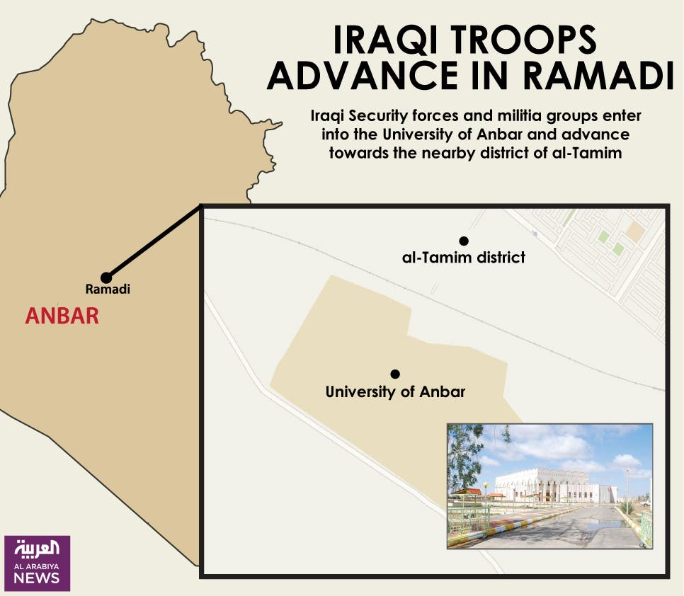 Infographic: Iraqi troops advance in Ramadi