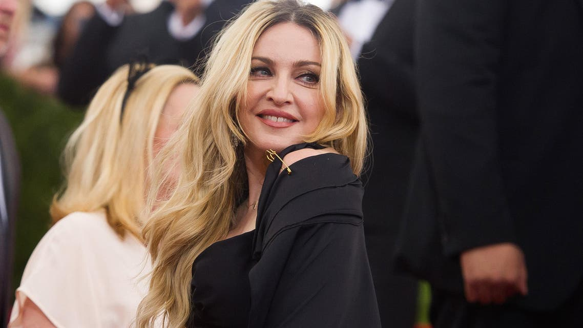 """Madonna arrives at The Metropolitan Museum of Art's Costume Institute benefit gala celebrating """"China: Through the Looking Glass"""" on Monday, May 4, 2015, in New York. (Photo by Charles Sykes/Invision/AP)"""