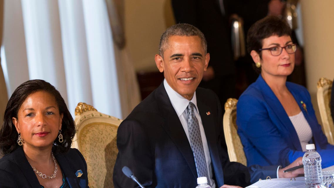 U.S. President Barack Obama, center, participates in a bilateral meeting with Ethiopian Prime Minister Hailemariam Desalegn at the National Palace, on Monday, July 27, 2015, in Addis Ababa. Obama is the first sitting U.S. president to visit Ethiopia. (AP)