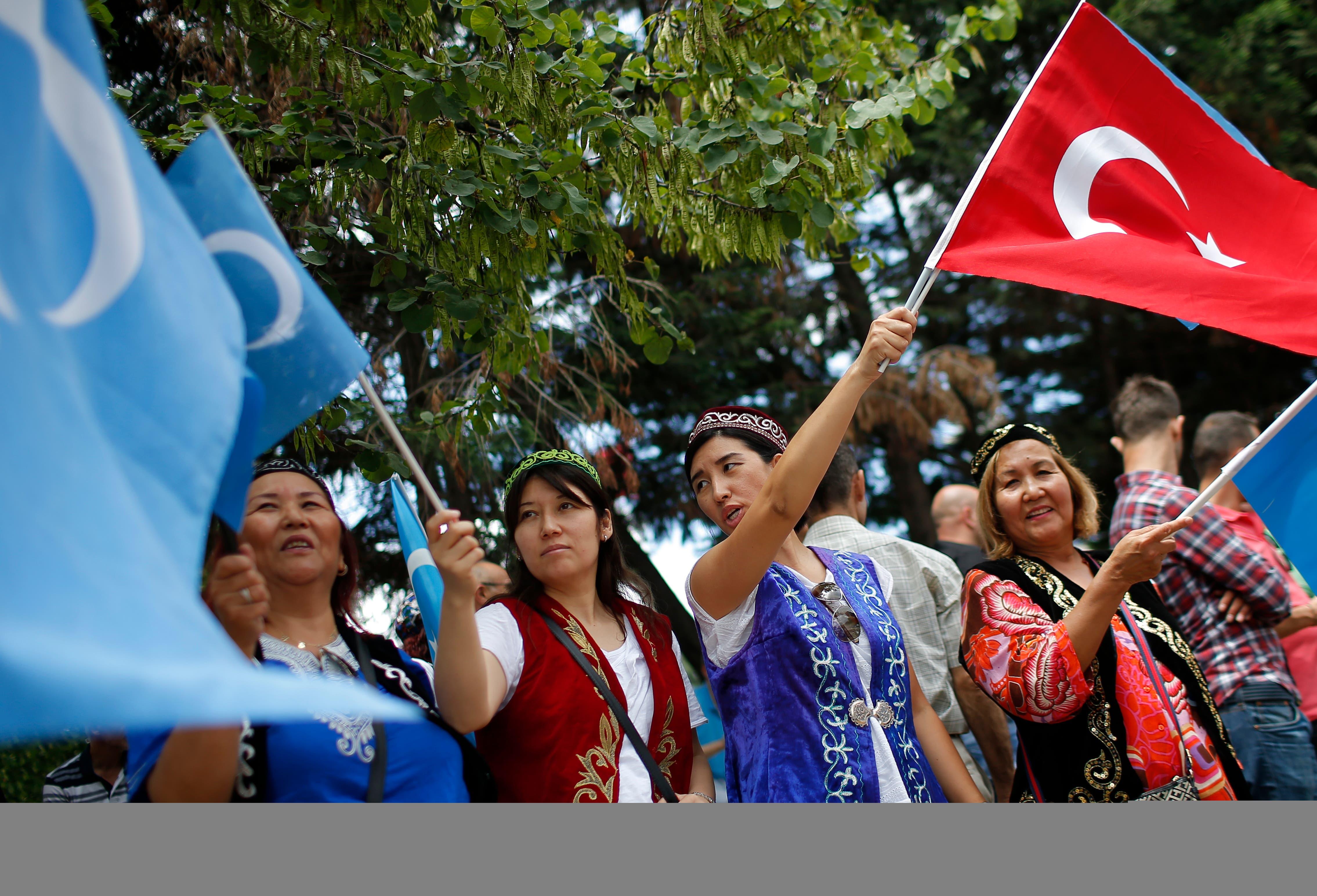 """تظاهرات داعمة للإيغور في تركيا """"أرشيفية"""""""
