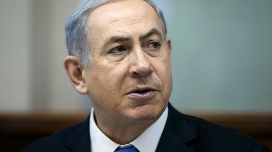 In this Sunday, July 19, 2015, file photo, Israel's Prime Minister Benjamin Netanyahu speaks during the weekly cabinet meeting in Jerusalem. On course to become the longest serving prime minister in Israeli history, Netanyahu's legacy has not been marked so far by bold measures of war and peace that defined his predecessors. But the hallmark mission of his professional career, keeping Iran from attaining a nuclear weapon, is seen as having taken a big hit with last week's U.S.-led nuclear deal. (Baz Ratner/Pool Photo via AP, File)