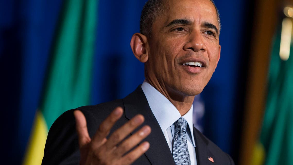 President Barack Obama speaks during a joint news conference with Ethiopian Prime Minister Hailemariam Desalegn, Monday, July 27, 2015, at the National Palace in Addis Ababa. Obama is the first sitting U.S. president to visit Ethiopia. (AP Photo/Evan Vucci)