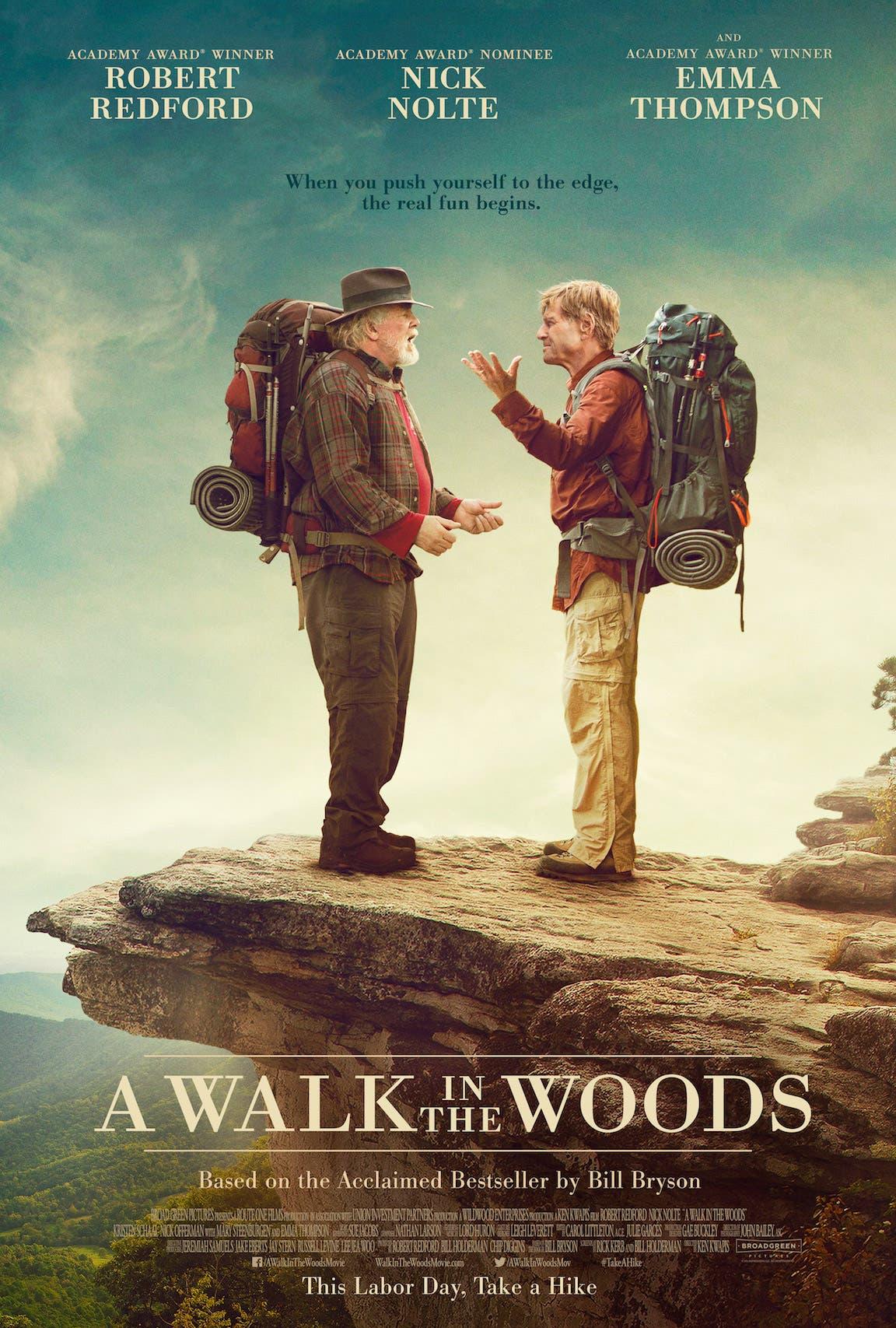ملصق فيلم المشي في الغابة