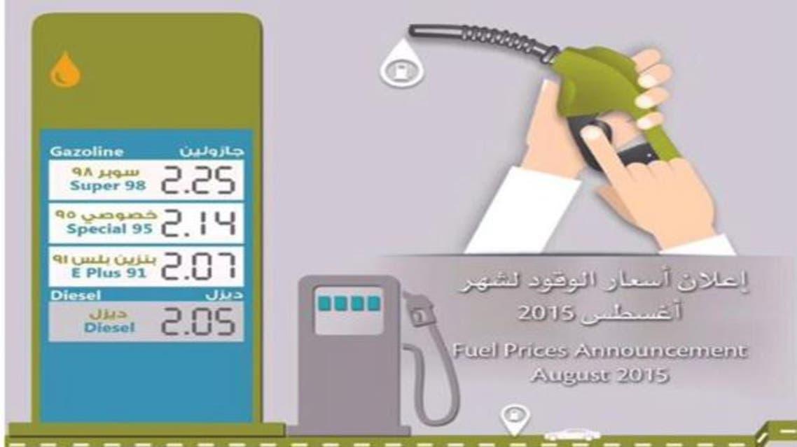أسعار الوقود الإمارات أغسطس 2015