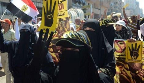 نساء الإخوان في تظاهرات سابقة