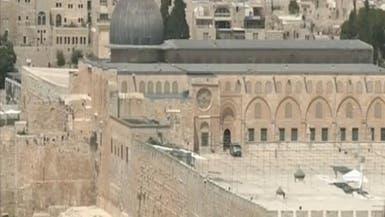 أعضاء الكنيست العرب في الأقصى احتجاجا على اقتحام الوزير الإسرائيلي للمسجد