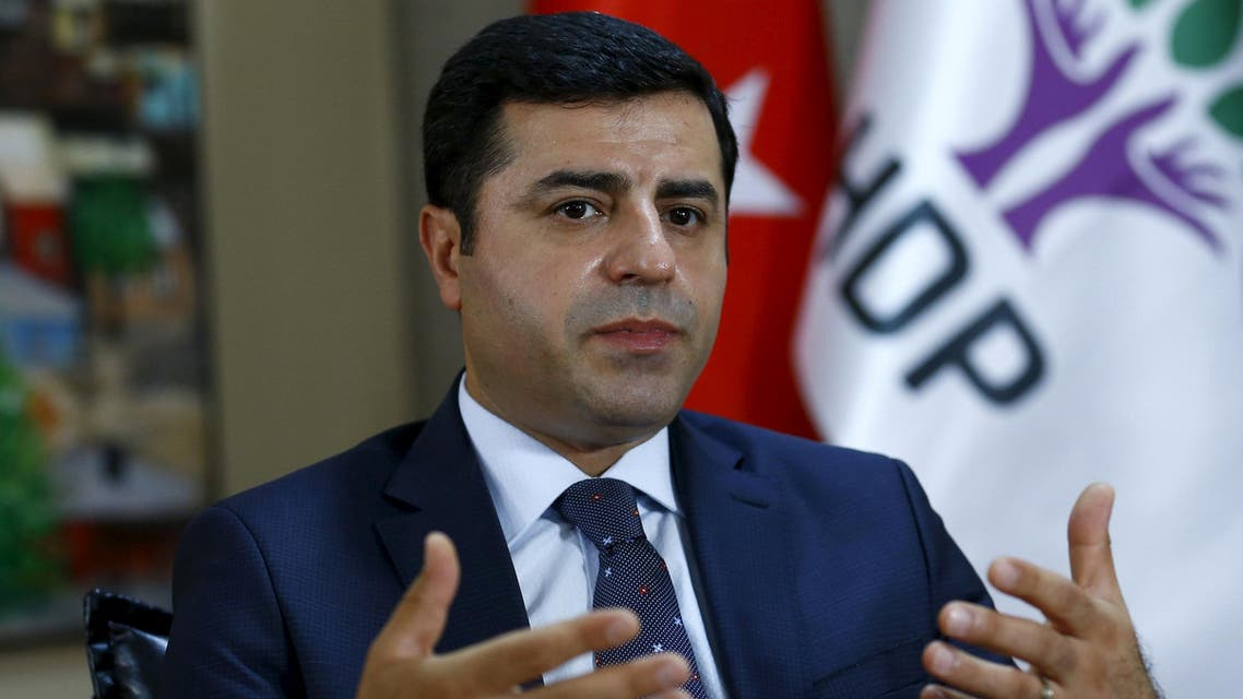 The leader of Turkey's pro-Kurdish opposition Peoples' Democratic Party (HDP) Selahattin Demirtas answers a question during an interview with Reuters in Ankara, Turkey, July 30, 2015.  (Reuters)