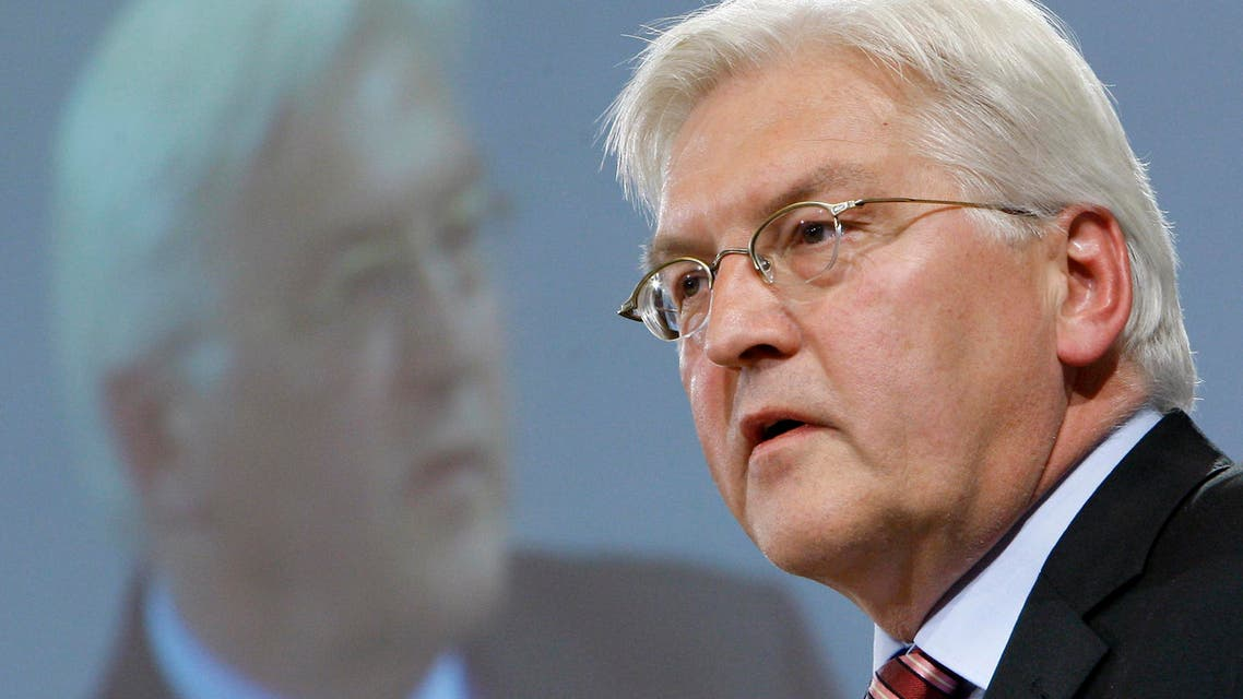 Frank-Walter Steinmeier, chancellor candidate of the German Social Democratic Party (SPD), speaks during the 4th Innovation Conference of the German Enviroment Ministry in Berlin, Germany, Monday, June 22, 2009. (AP Photo/Michael Sohn)