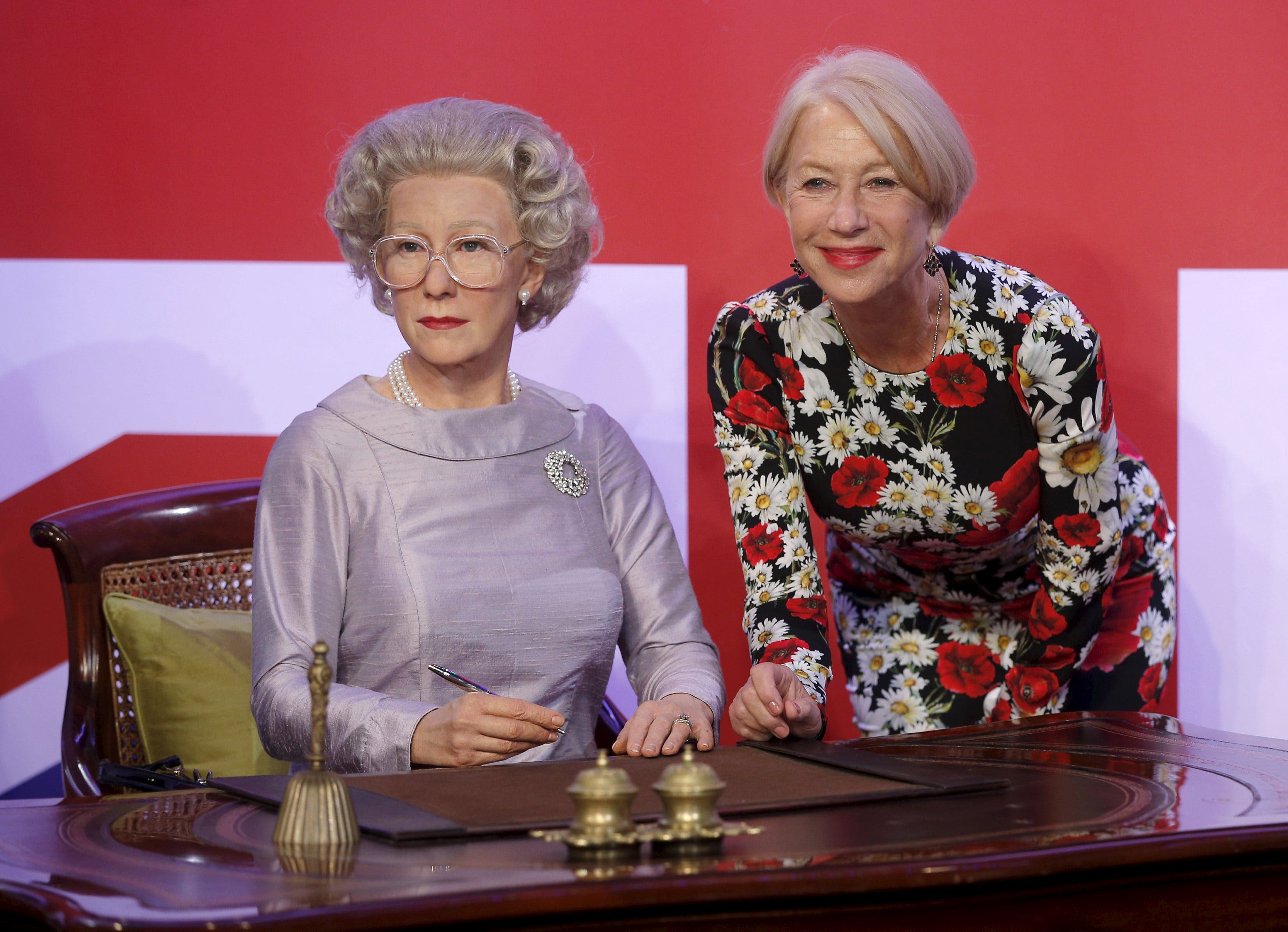 Helen Mirren Fakes intended for spot the fake!' mirren meets herself in triplicate wax works - al