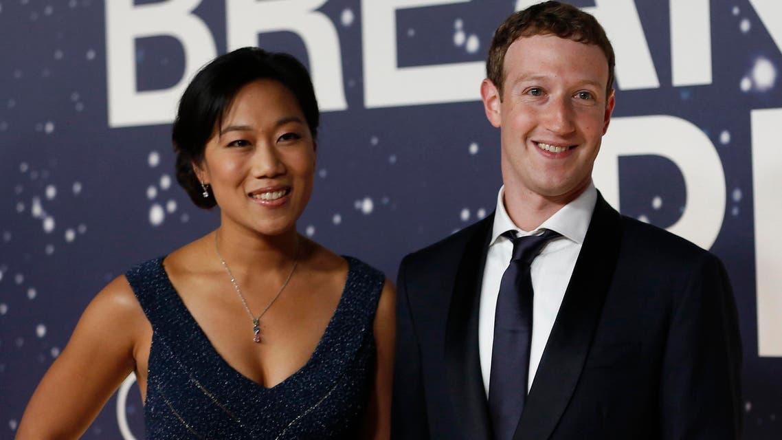 مؤسس فيسبوك مارك وزوجته