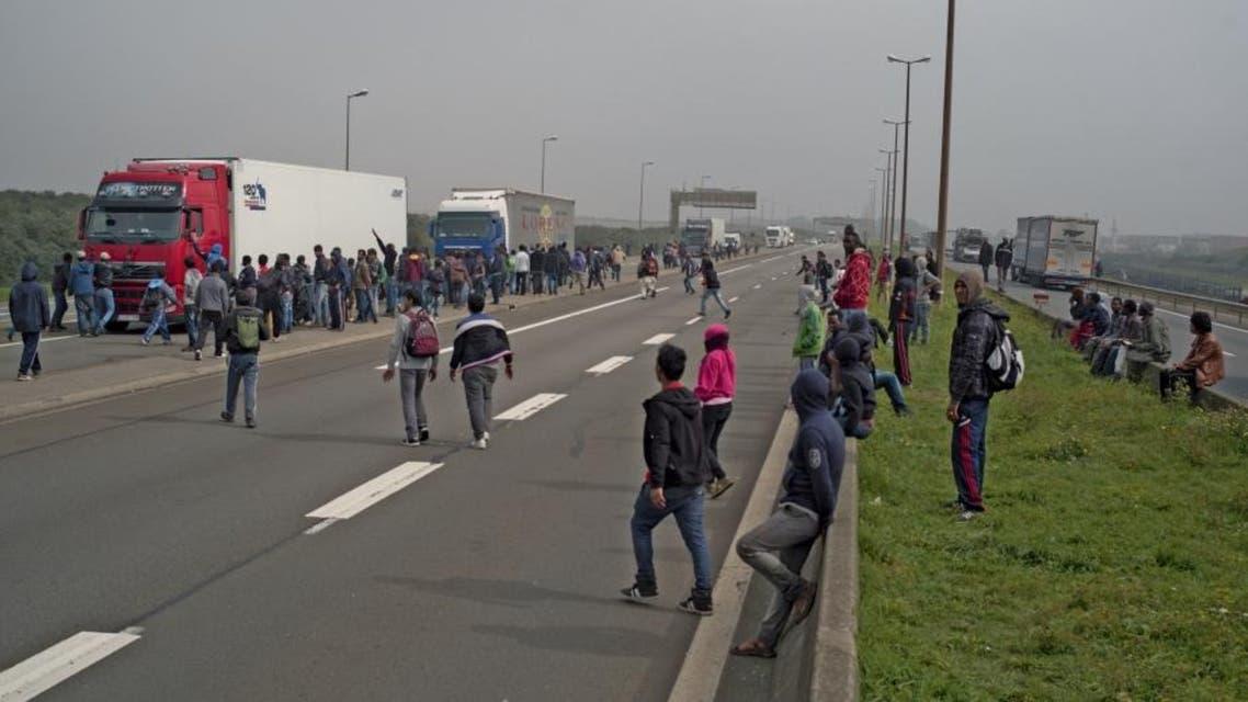فرنسا بريطانيا لاجئين