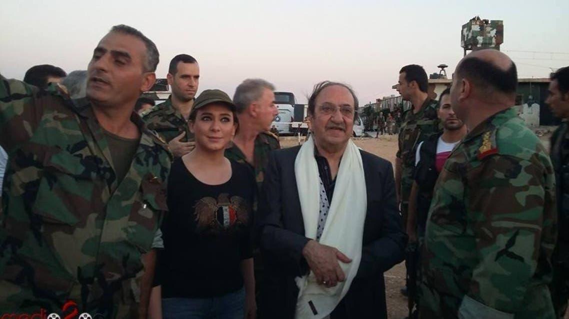 دريد وسلاف في مقر عسكري للأسد