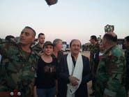 صور فواخرجي ولحام مع ضباط سوريين تثير احتجاجا واسعا