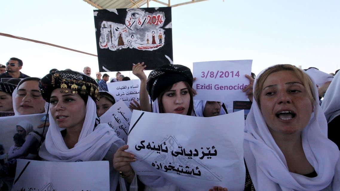 مظاهرة ل إيزيديين في اربيل تنديداً على احتلال داعش ل سنجار