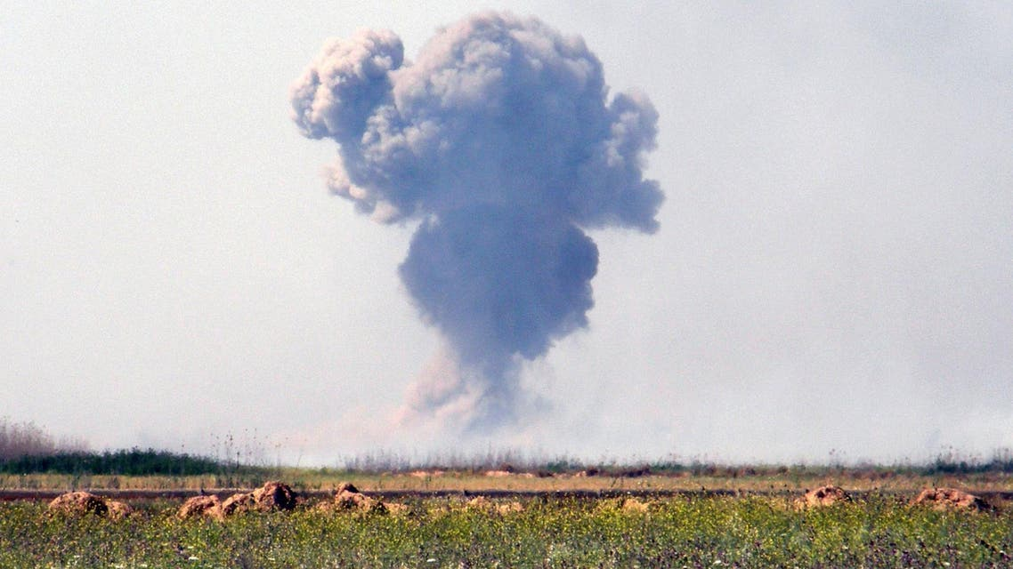 Smoke rises from Islamic State militant positions as Kurdish security forces attack Islamic State extremists outside the oil-rich city of Kirkuk reuters