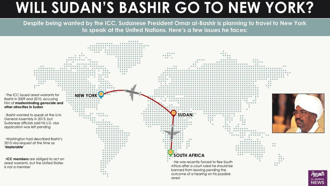 Infographic: Will Sudan's Bashir go to New York?