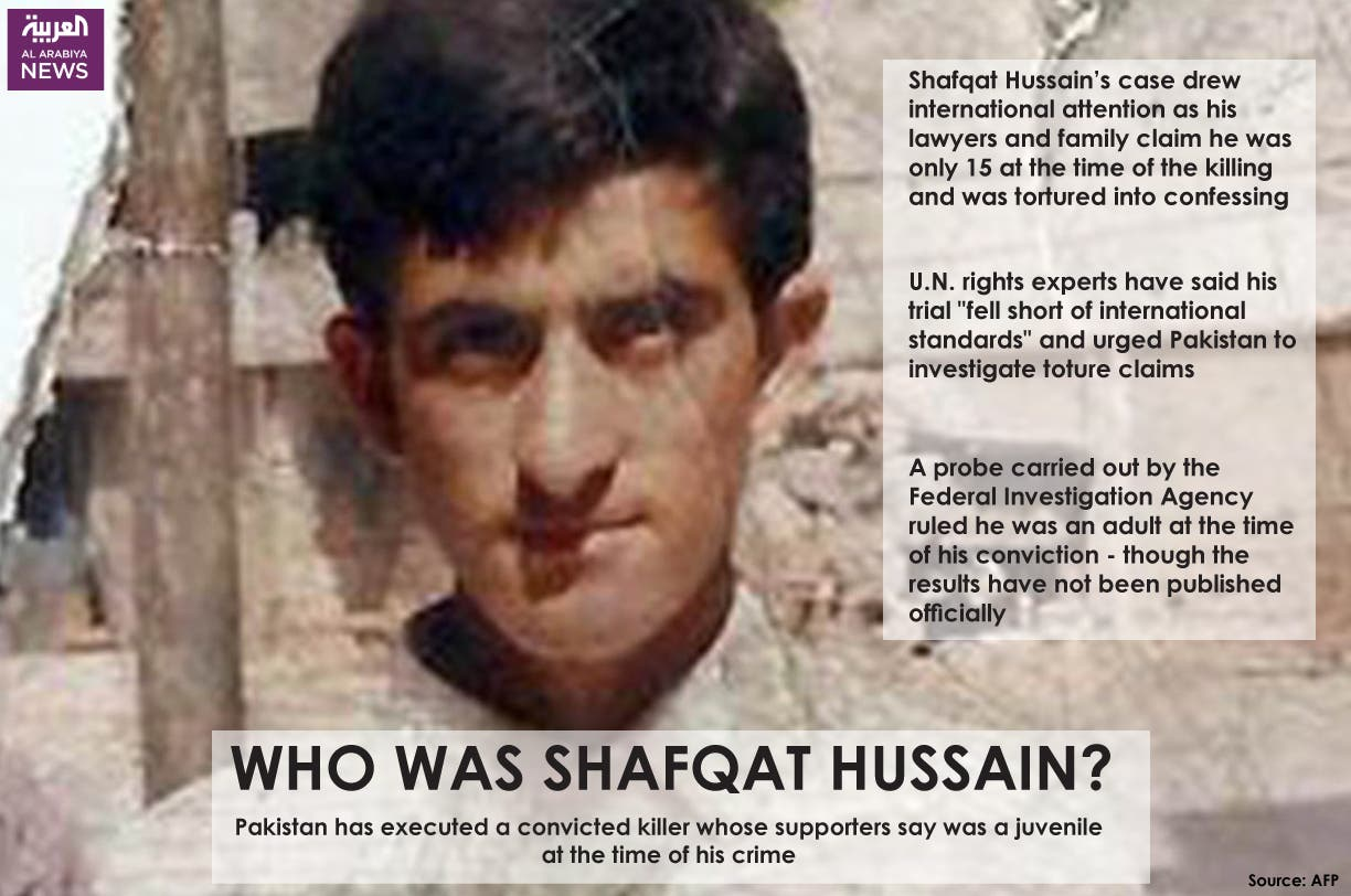 Infographic: Who was Shafqat Hussain?