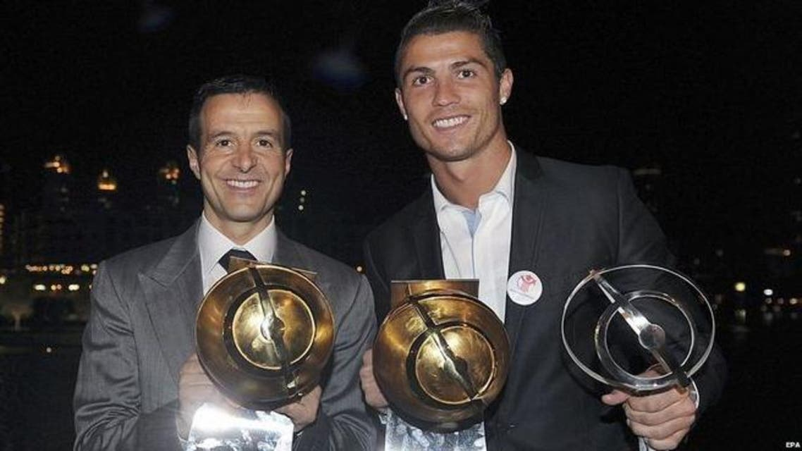 Mendes (left) is one of the world's most successful agents. (Courtesy: EPA)
