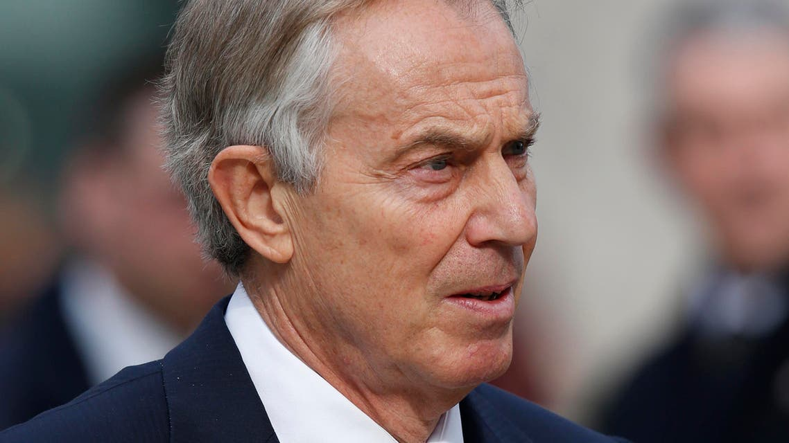Former British Prime Minister Tony Blair arrives to attend the Service of Commemoration – Afghanistan, at St Paul's Cathedral in London, Friday, March 13, 2015. The Queen and Britain's prime minister are joining veterans in a service to commemorate the end of Britain's combat operations in Afghanistan. Almost 150,000 Britons served in the conflict, and 453 died. (AP Photo/Lefteris Pitarakis)