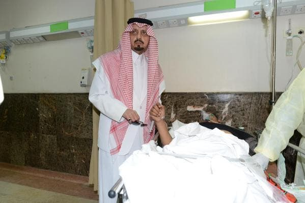 Prince of Asir visiting the victims