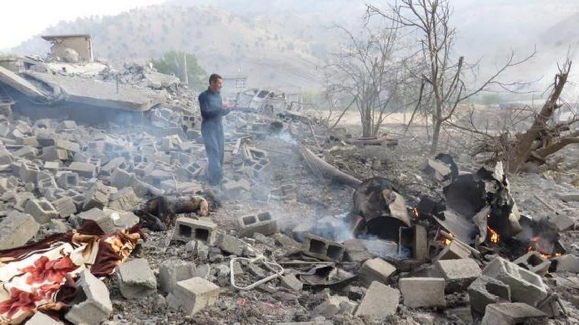 موقع يخص حزب العمال الكردستاني في اربيل قصفته الطائرات التركية تركيا  تركيا الاكراد