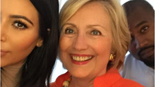 Kim Kardashian gets a selfie with 'our next president' Hillary Clinton