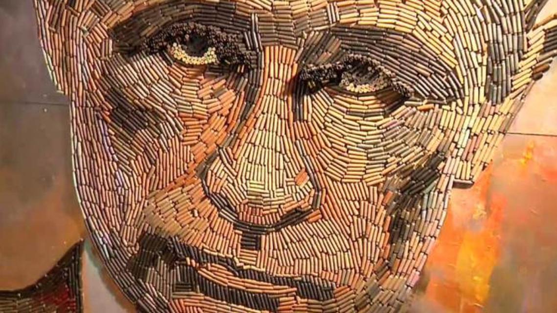 لوحة رصاص ل بوتين
