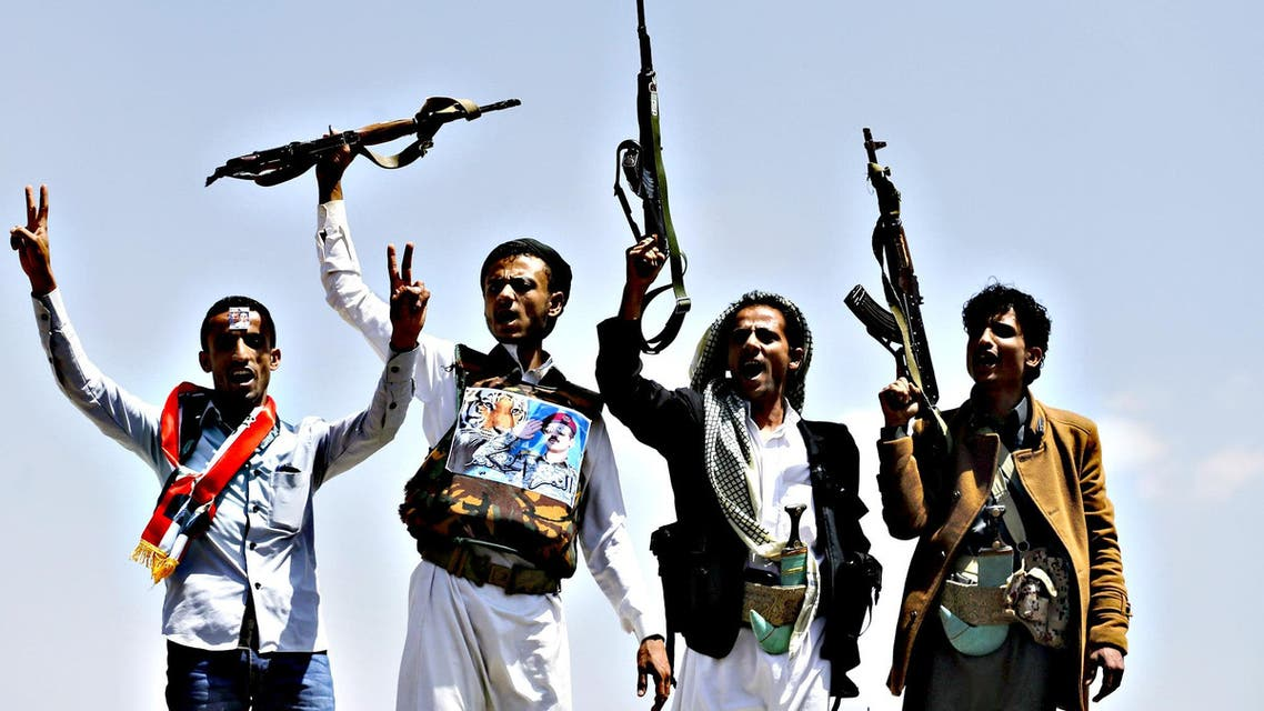 Supporters of Ahmed Ali Abdullah Saleh, the son of Yemen's former President Ali Abdullah Saleh, raise their rifles as they demonstrate in Sanaa. (File photo: Reuters)