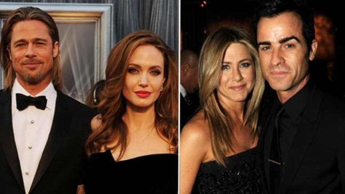 Jennifer Aniston, Justin Theroux, Angelina Jolie, Brad Pitt
