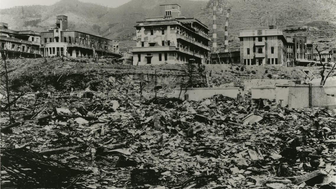 Nagasaki Medical College, which was damaged by the atomic bombing of Nagasaki on August 9, 1945, is seen in Nagasaki, southwestern Japan. (Reuters)