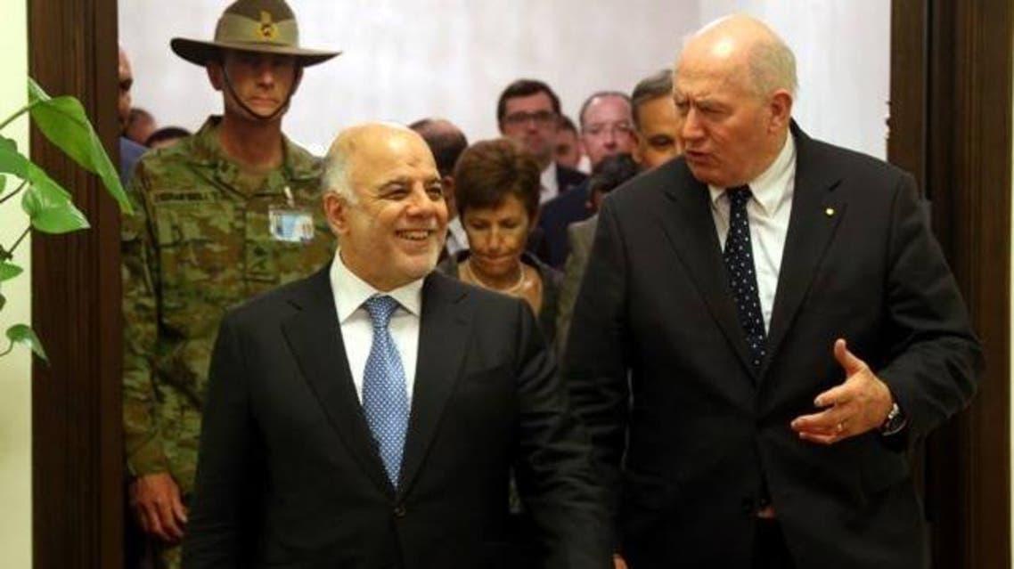 حيدر العبادي مع حاكم أستراليا العام السيد بيتر كوسكروف