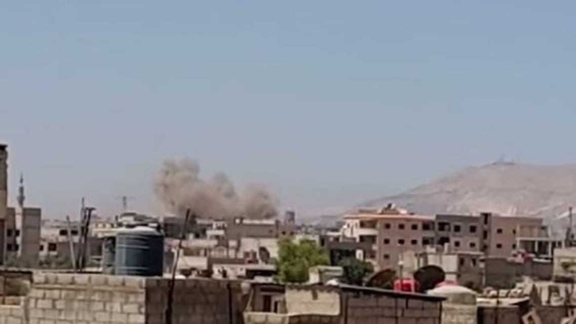 غارات جوية على الغوطة المحاصرة