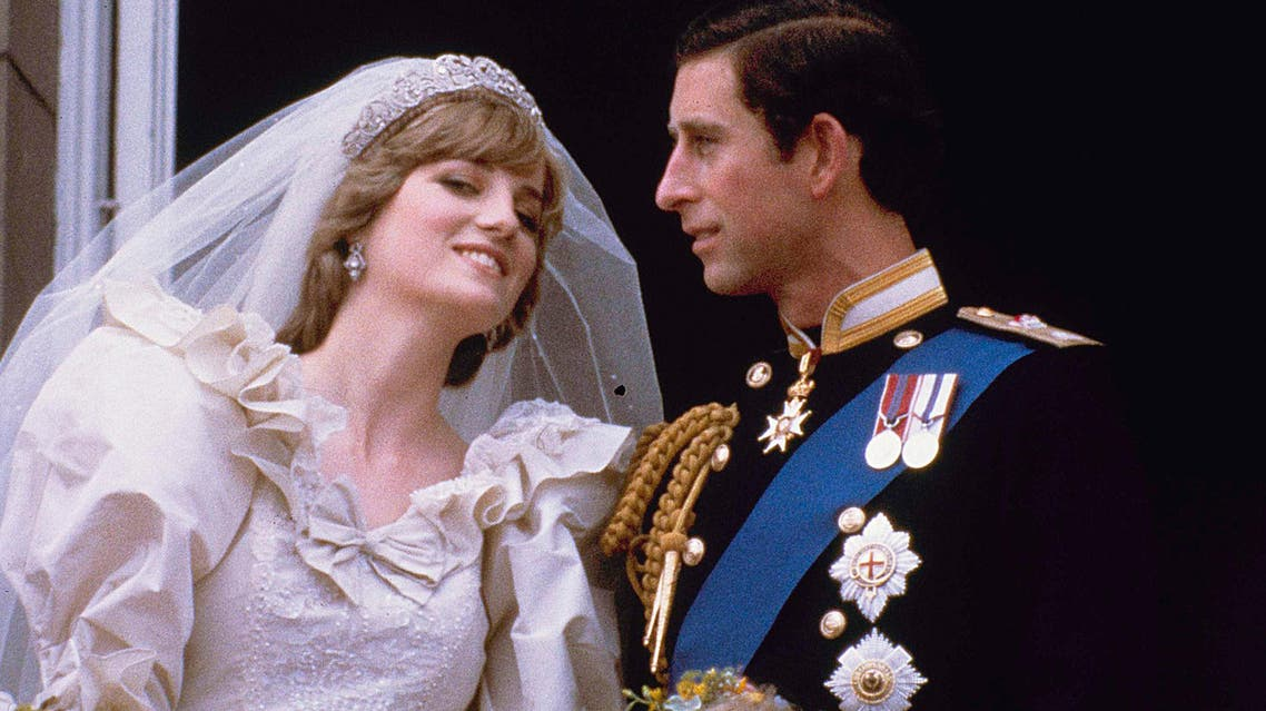 Prince Charles and his bride Diana, Princess of Wales, are shown on their wedding day on the balcony of Buckingham Palace in London, July 29, 1981. (AP Photo)