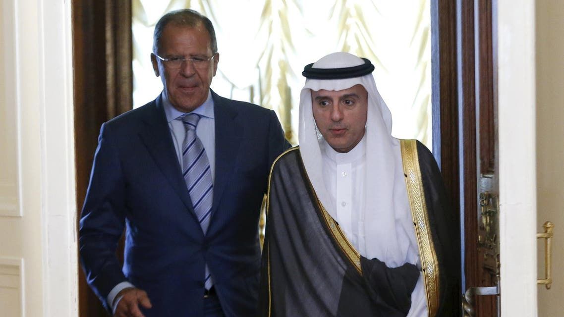 Russian Foreign Minister Sergei Lavrov meets with Saudi Foreign Minister Adel al-Jubeir in Moscow. (Reuters)