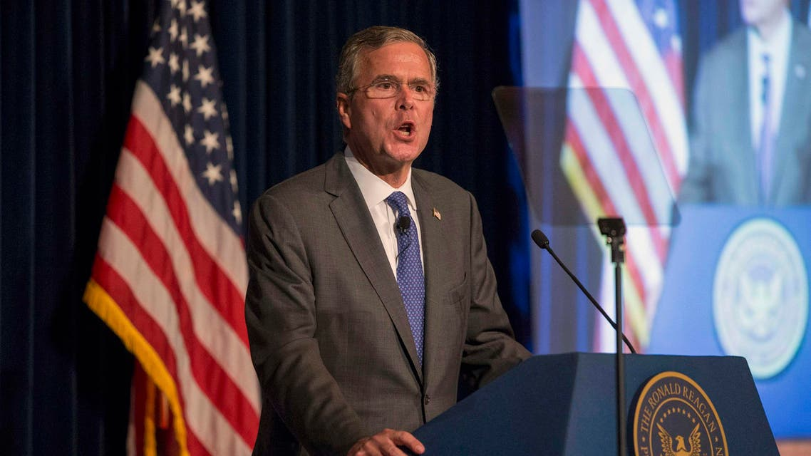 Republican presidential candidate Bush delivers remarks at a Reagan Forum at Ronald Reagan Presidential Library in Simi Valley. (Reuters)