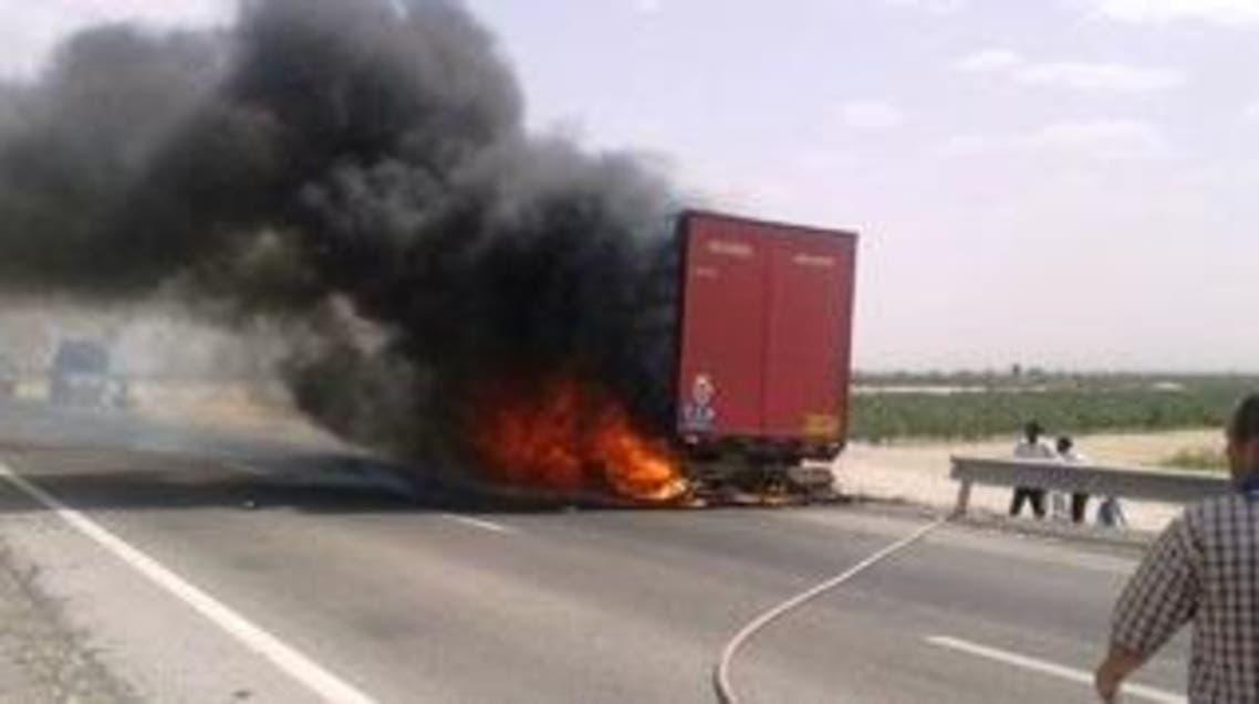 کامیون ایرانی مرز ترکیه