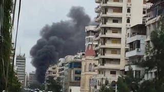 من انفجار سابق في اللاذقية