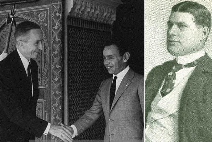 هربرت سكوايرز، كان في 1902 أول سفير للولايات المتحدة بهافانا، وآخرهم حتى 1960 كان فيليب بونسال، سفيرها بين 1961 و1962 في الرباط، ونراه في الصورة يودع العاهل المغربي الراحل، الملك الحسن الثاني، بعد انتهاء ولايته