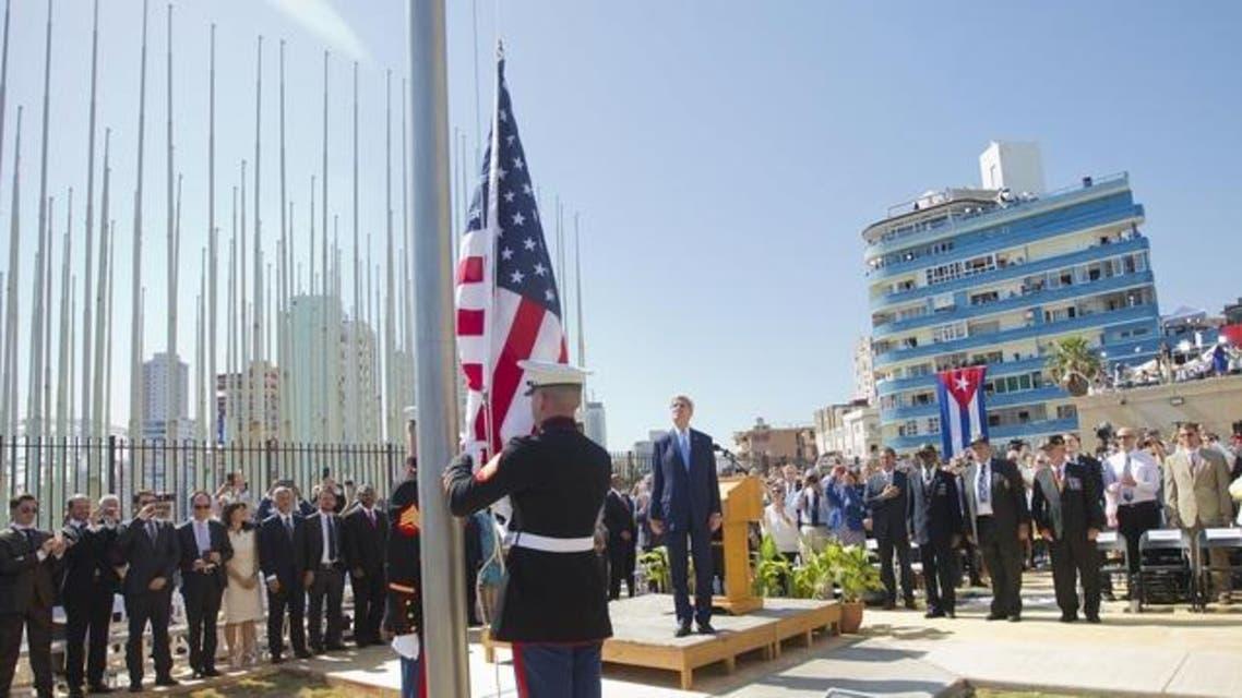 رفع العلم الأميركي في هافانا