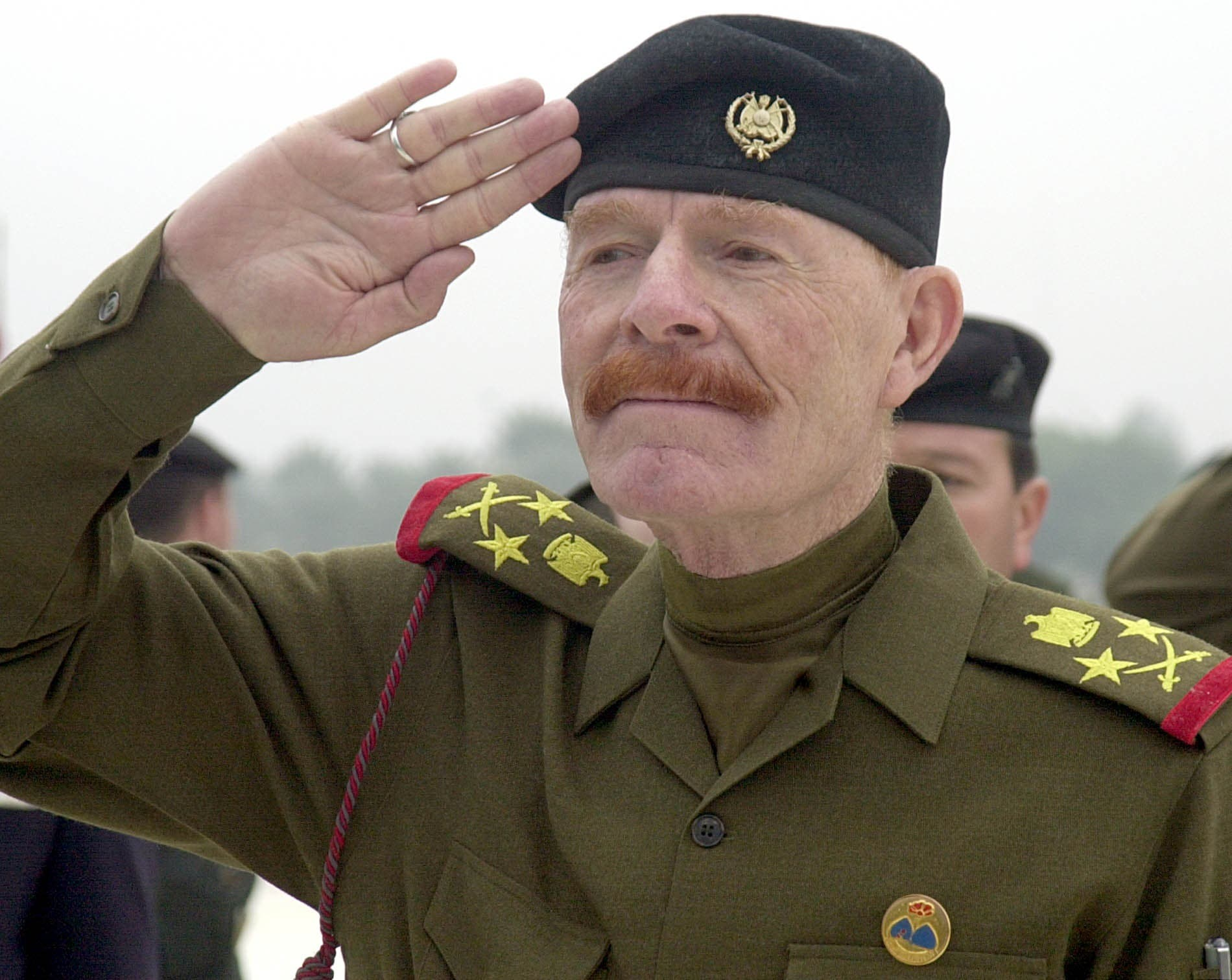 Iraqi Vice chairman of the Revolutionary Command Council, Izzat Ibrahim al-Douri during a ceremony at the huge Martyrs Monument in Baghdad on Sunday, Dec. 1, 2002. (File photo: AP)
