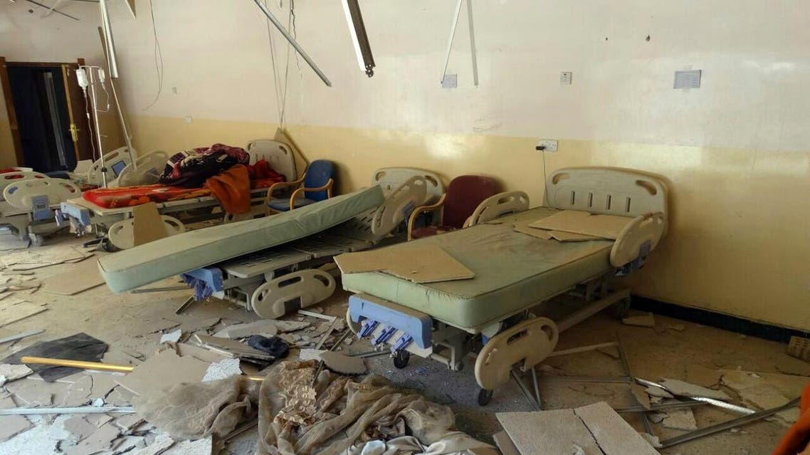 """FILE - This Sunday, July 13, 2014 file photo, shows damaged hospital beds after a bombing in al-Karma town, east of Fallujah, Iraq. Iraq's prime minister Haider al-Abadi said Saturday he has ordered the army to stop shelling populated areas held by militants in order to spare the lives of """"innocent victims"""" as the armed forces struggle to retake cities and towns seized by fighters of the Islamic State extremist group this summer. (AP Photo, File)"""