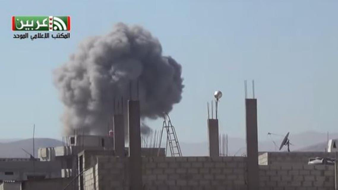 غارات جوية في عربين بريف دمشق