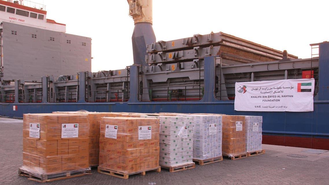 المساعدات الإماراتية التي وصلت عدن