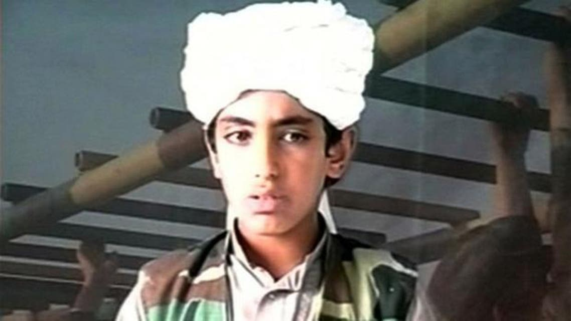 Osama bin Laden's son, Hamza bin Laden, is shown in an undated Al Qaeda training video. (Photo courtesy: The Telegraph)