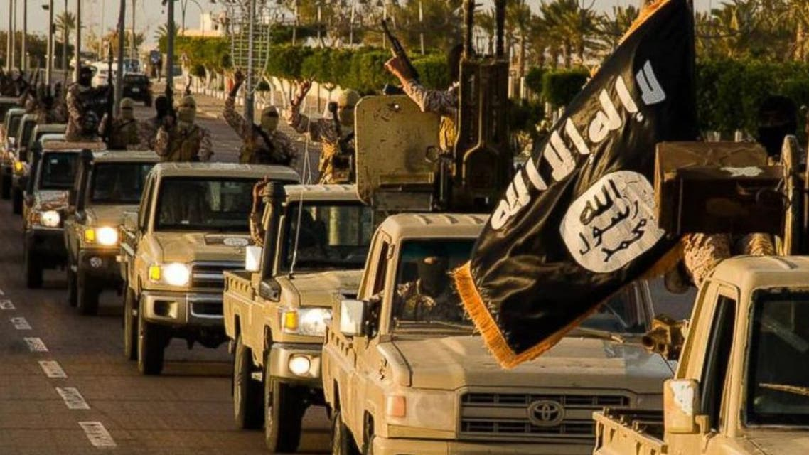 Islamic State PHOTO: ISIS militants parade through Sirte, Libya in photos released by the Islamic State on Feb. 18, 2015.