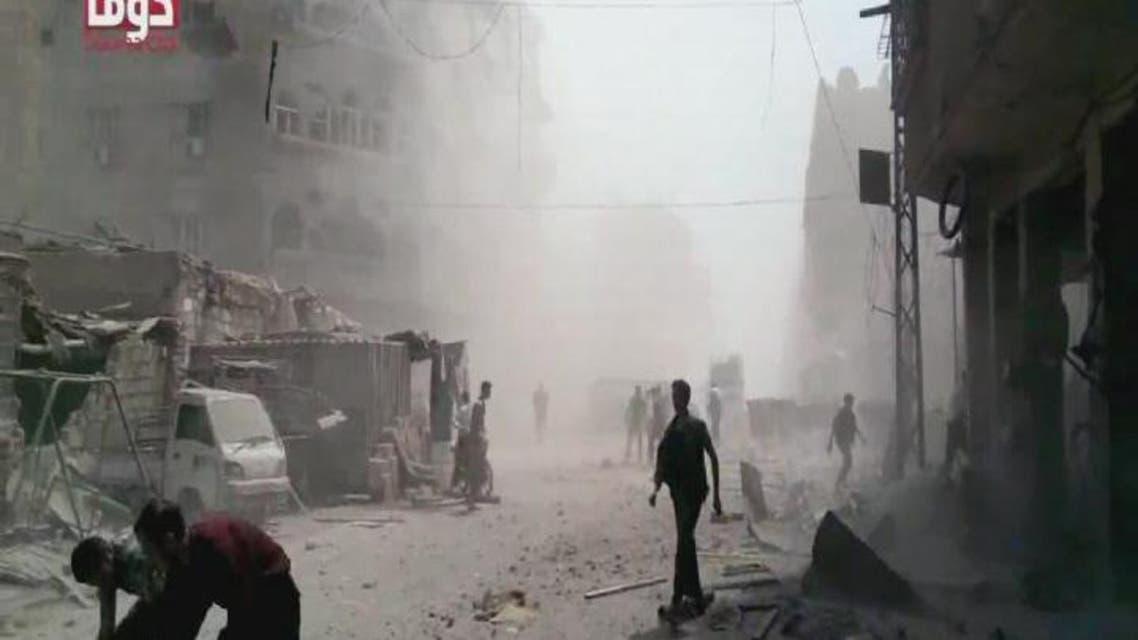 THUMBNAIL_ سوريا.. 80 قتيلا بمجزرة للأسد في #دوما