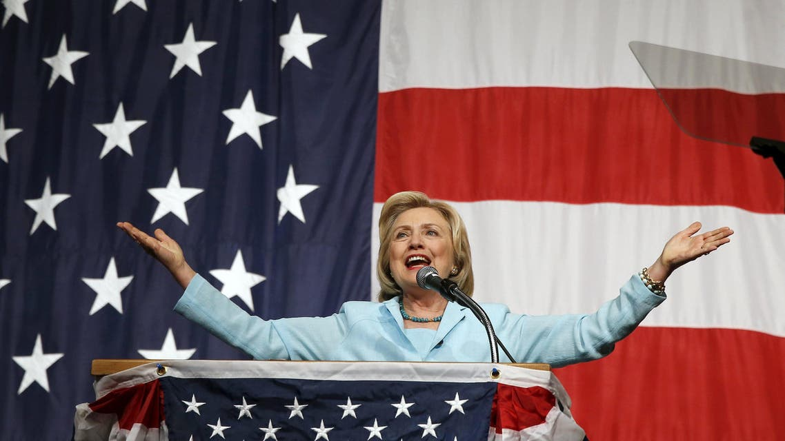 U.S. Democratic presidential candidate Hillary Clinton speaks at the Iowa Democratic Wing Ding dinner in Clear Lake. (File: Reuters)