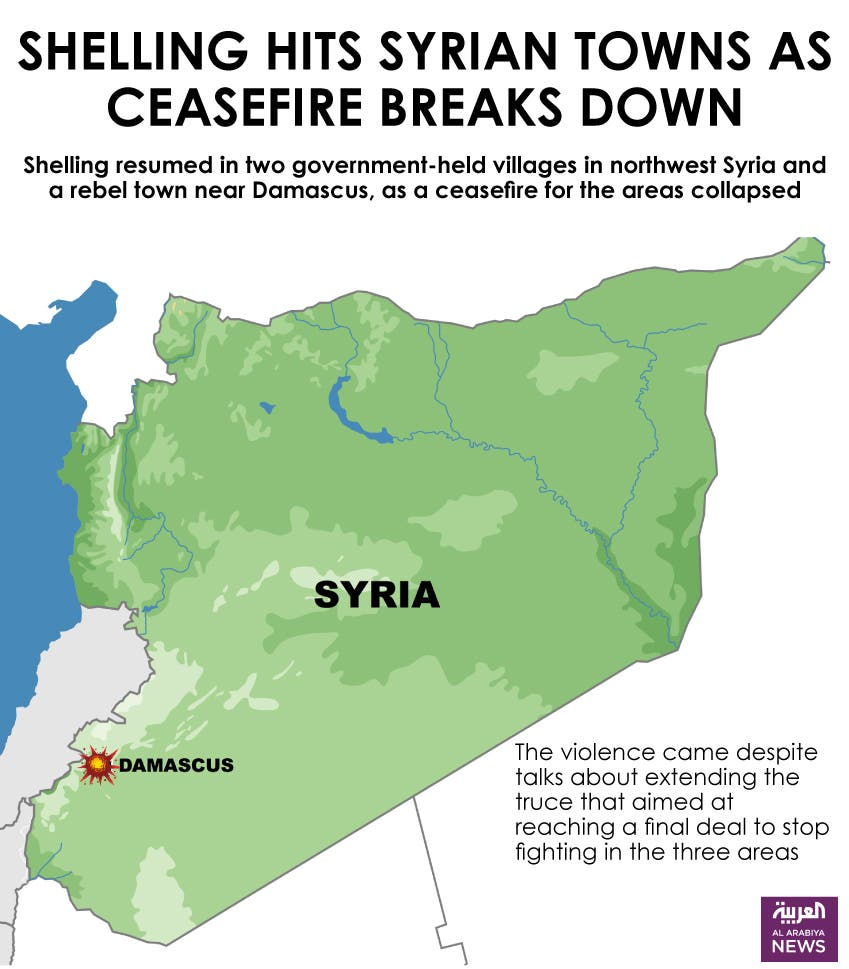 Infographic: Shelling hits Syrian towns as ceasefire breaks down
