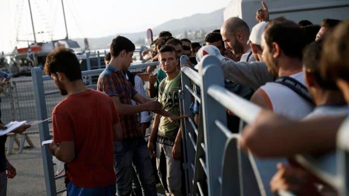 مهاجرون سوريون اليونان